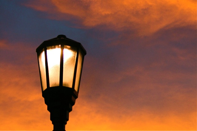 Sunset Street Light