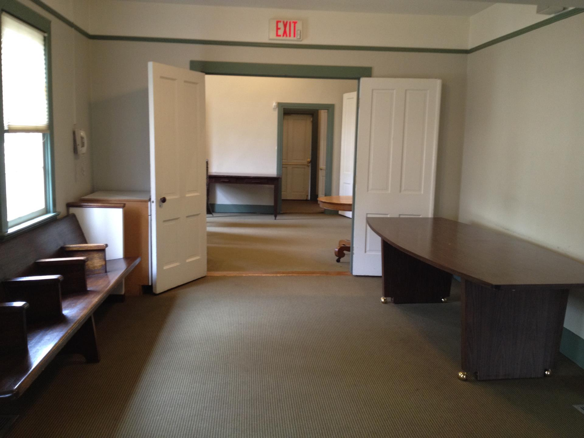 Town Hall Anteroom and Piano Room from Kitchen